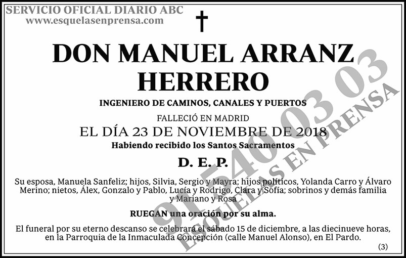 Manuel Arranz Herrero